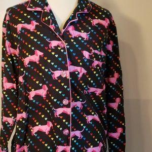 Victoria's secret Daschund Rainbow Pajamas Med